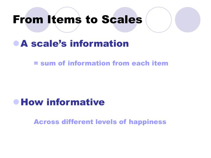 From Items to Scales