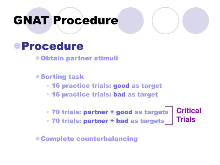 GNAT Procedure