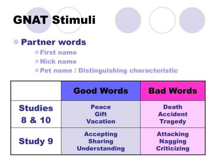 GNAT Stimuli