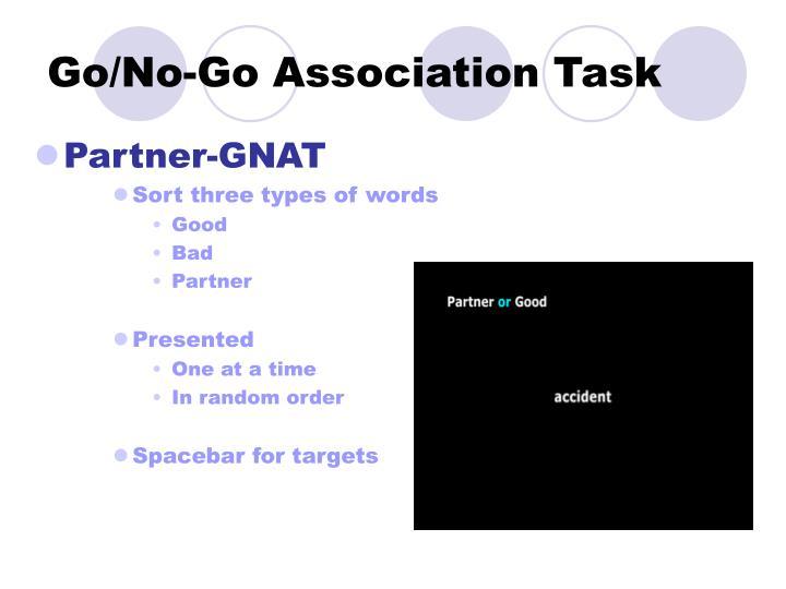 Go/No-Go Association Task