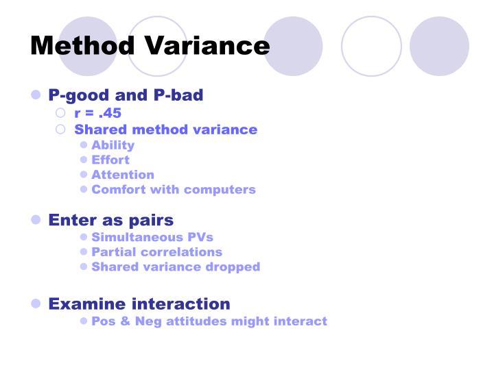 Method Variance