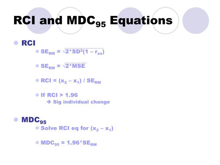 RCI and MDC