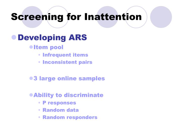 Screening for Inattention