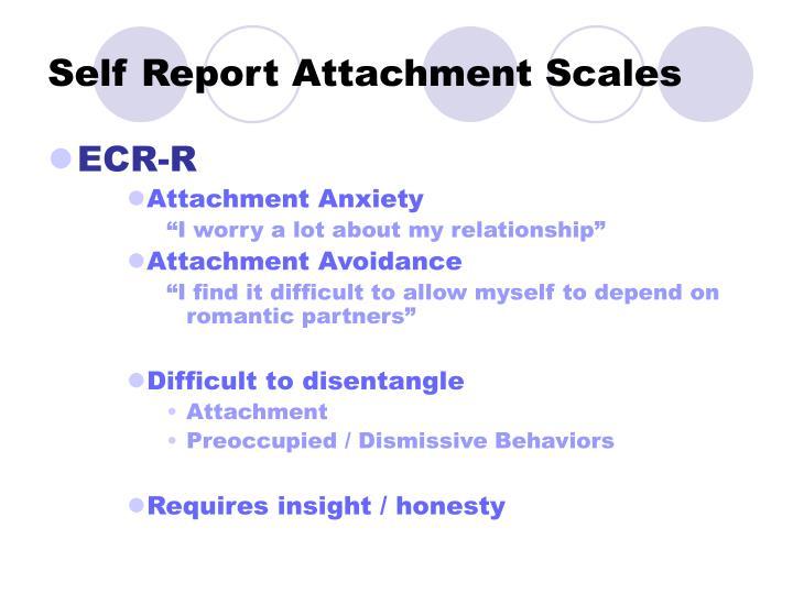 Self Report Attachment Scales