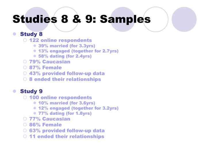 Studies 8 & 9: Samples