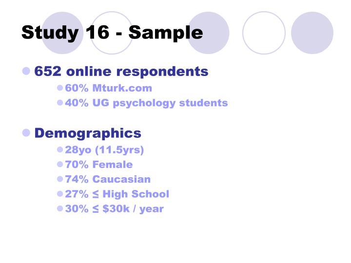 Study 16 - Sample