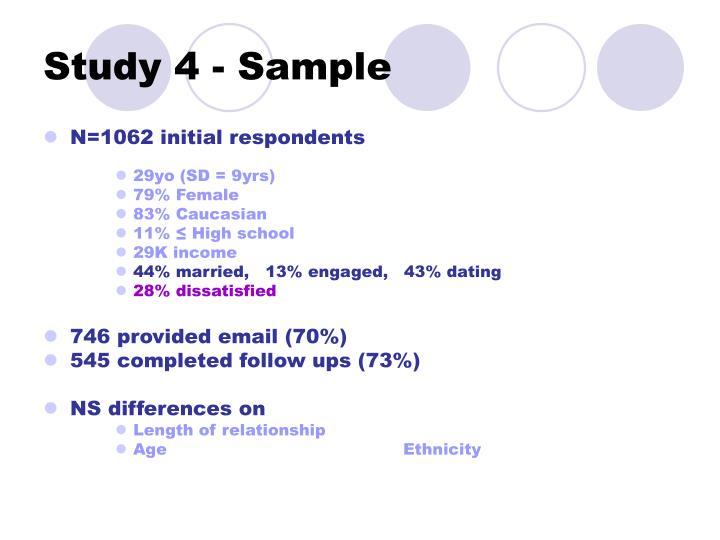 Study 4 - Sample