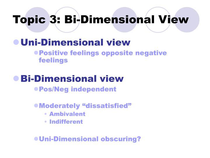 Topic 3: Bi-Dimensional View