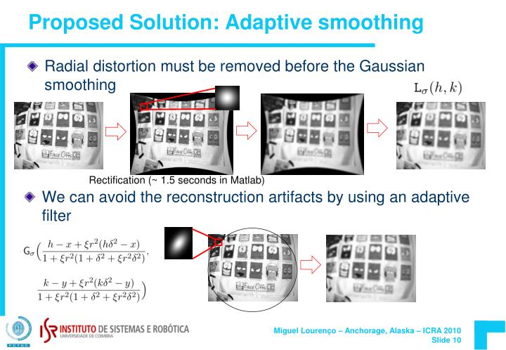Proposed Solution: Adaptive smoothing