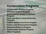 conservation programs