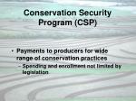 conservation security program csp