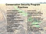 conservation security program practices