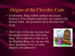 origins of the chivalric code