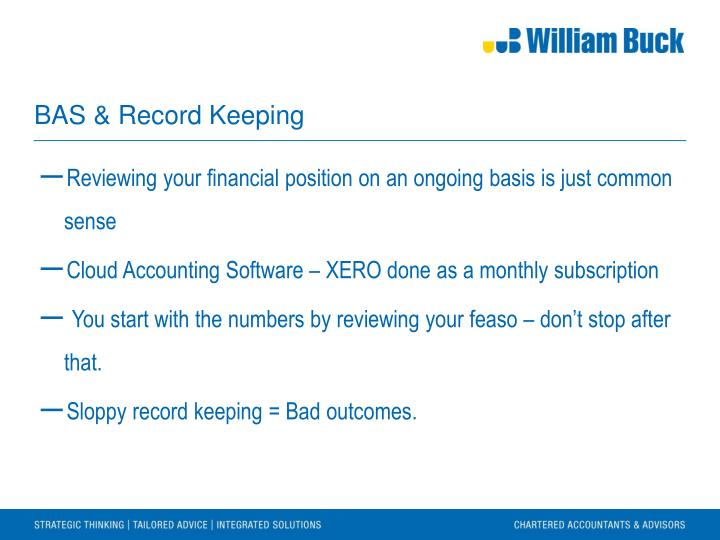 BAS & Record Keeping