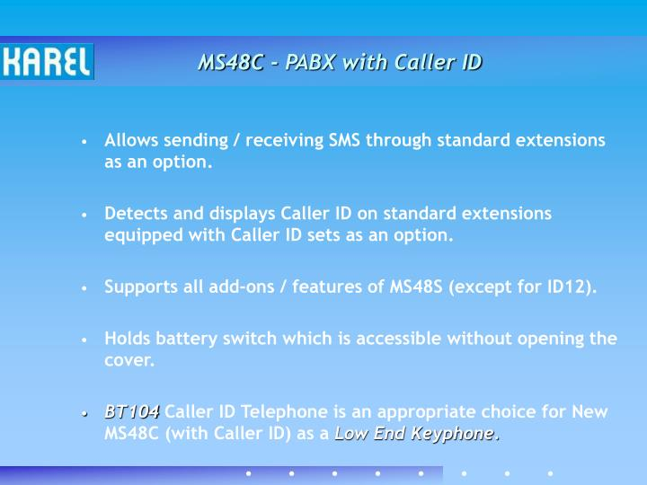 MS48C - PABX with Caller ID