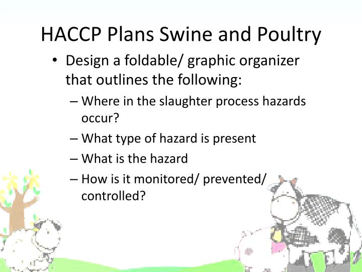 HACCP Plans Swine and Poultry