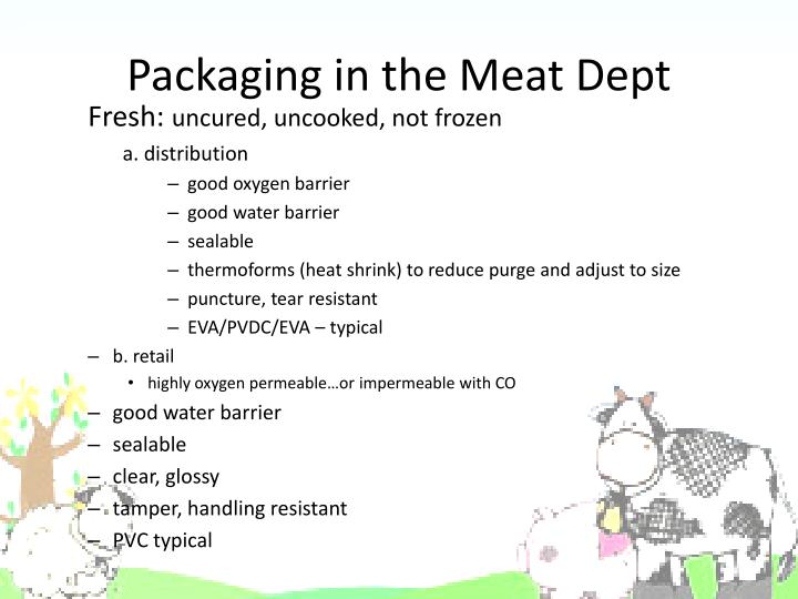 Packaging in the Meat Dept