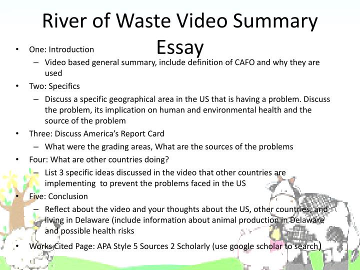 River of Waste Video Summary Essay