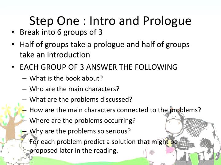 Step One : Intro and Prologue