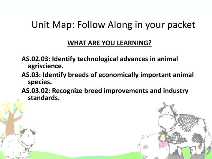 Unit map follow along in your packet