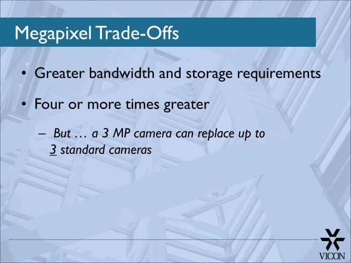Megapixel Trade-Offs