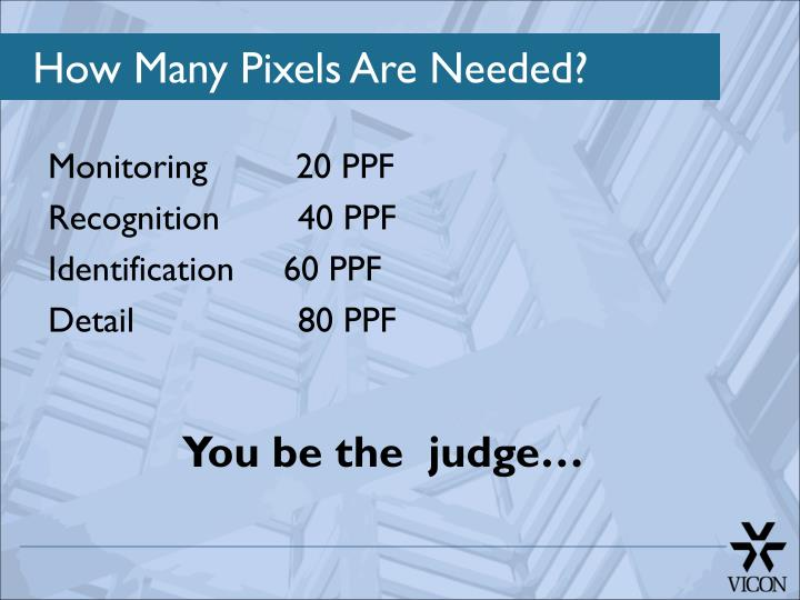 How Many Pixels Are Needed?