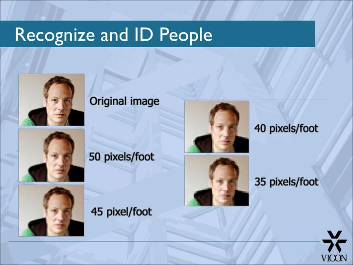 Recognize and ID People
