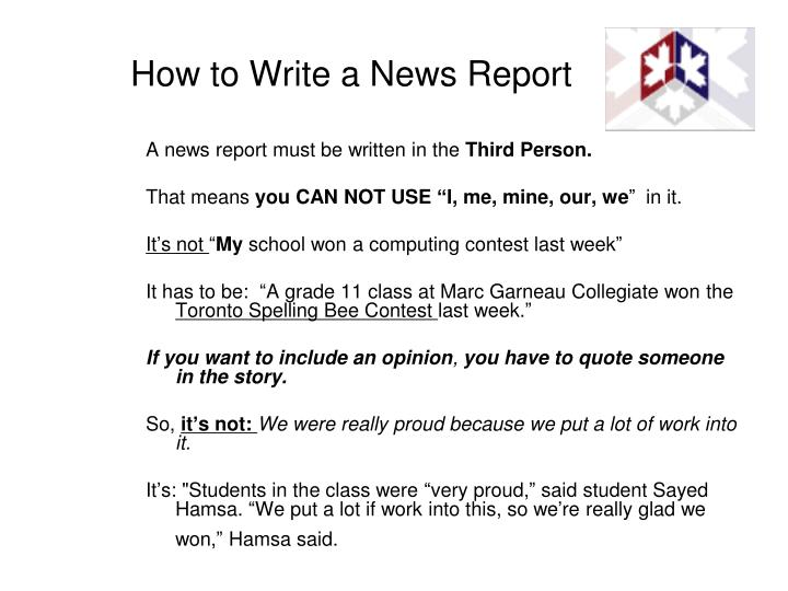 How to Write a News Report