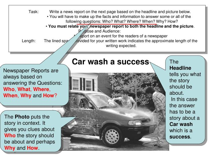 Task: Write a news report on the next page based on the headline and picture below.