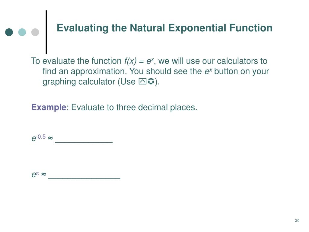 PPT - 6 3 Exponential Functions PowerPoint Presentation - ID:6952190