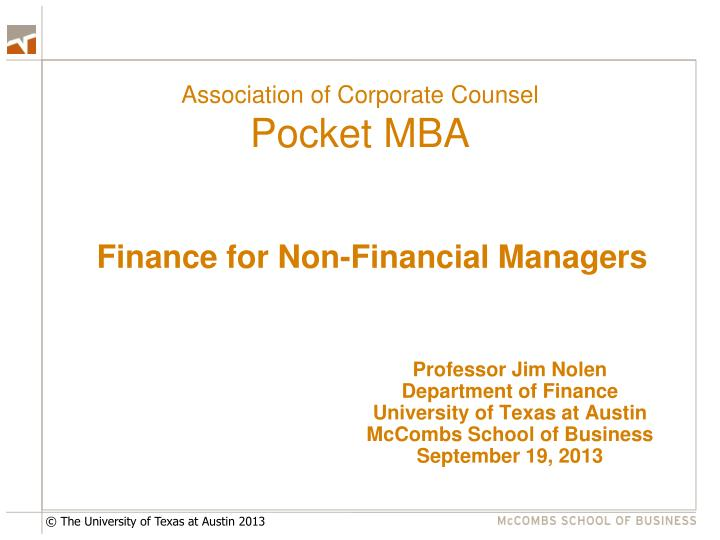 association of corporate counsel pocket mba n.