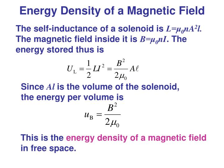 Energy Density of a Magnetic Field