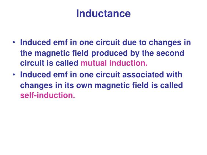 Induced emf in one circuit due to changes in the magnetic field