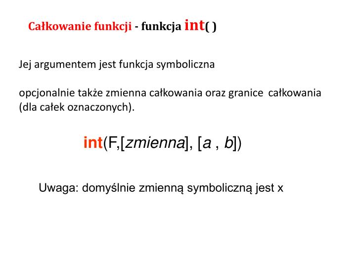 Całkowanie funkcji