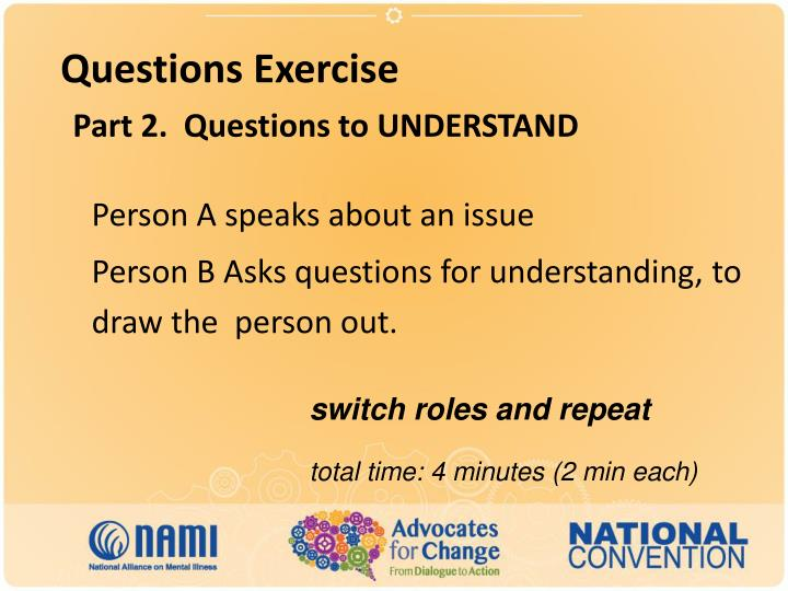 Questions Exercise