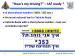 how s my driving iaf study