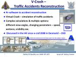 v crash traffic accidents reconstruction