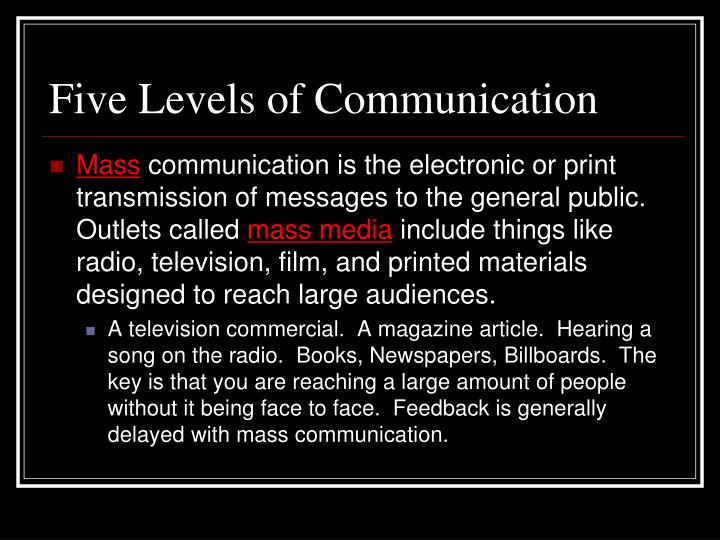 """five levels of communication Communicating at this level is good for """"getting a feel"""" for someone, because  even as we may be having a conversation about the weather,."""