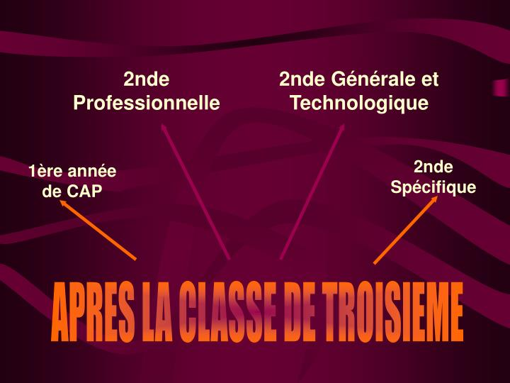 2nde Professionnelle