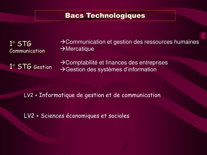 Bacs Technologiques