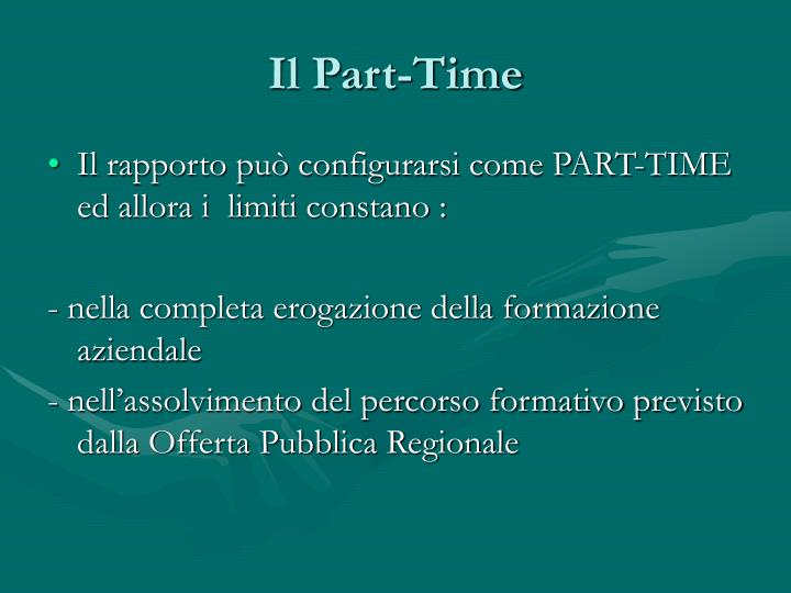 Il Part-Time