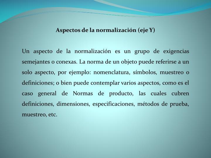 Aspectos de la normalización (eje Y)