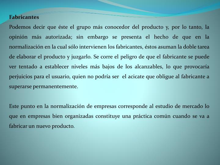 Fabricantes