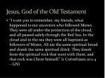 jesus god of the old testament