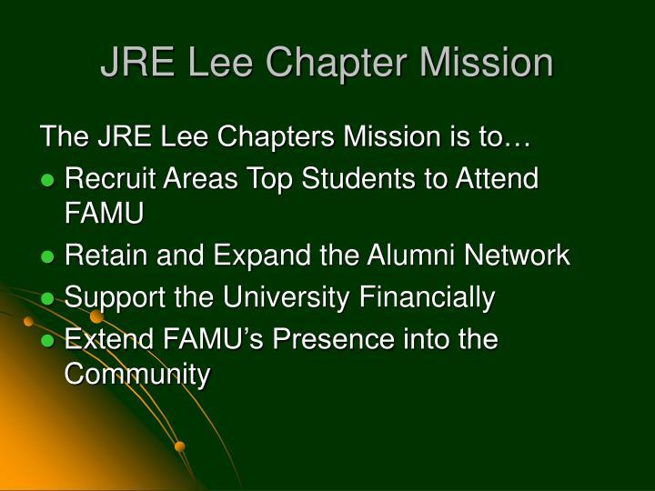 JRE Lee Chapter Mission