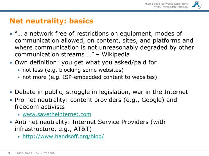 Net neutrality basics