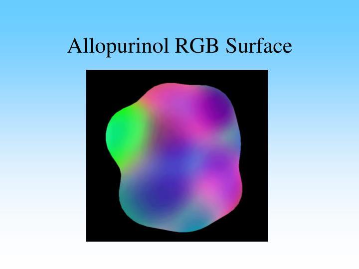 Allopurinol RGB Surface
