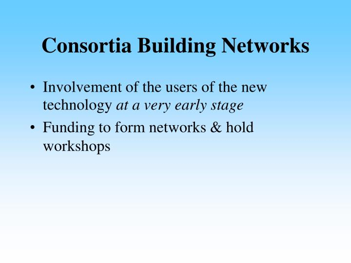 Consortia Building Networks