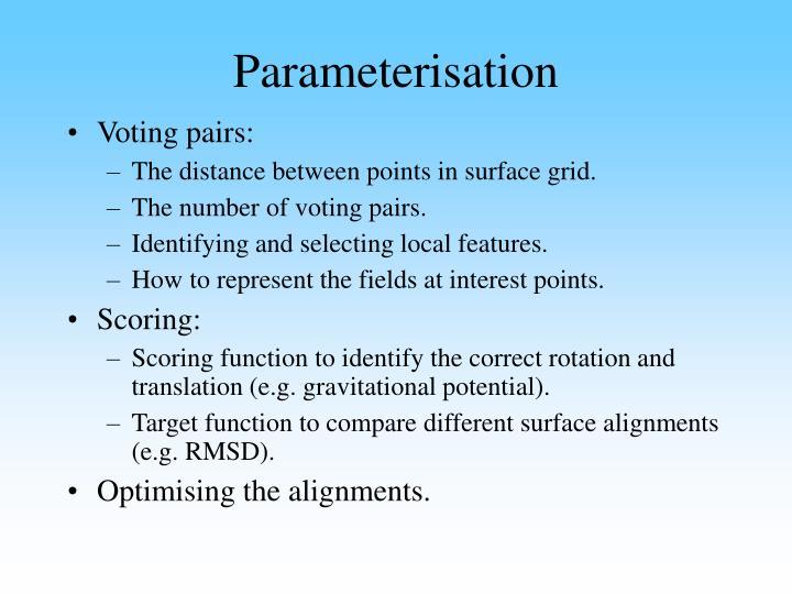 Parameterisation