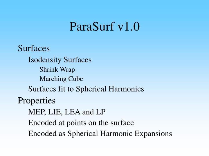 ParaSurf v1.0